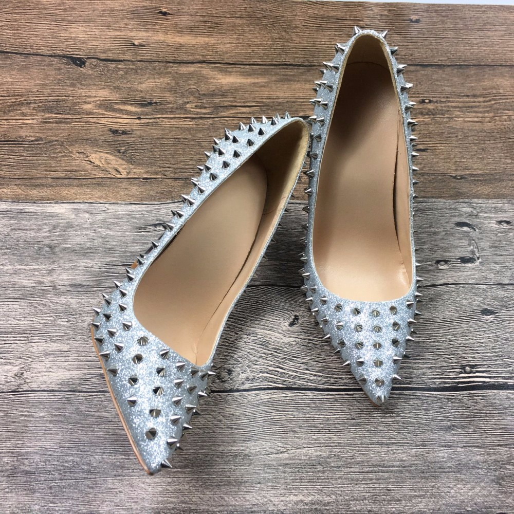 Aliexpress.com : Buy Bling Sequins Silver Rivets Studded