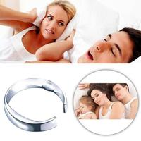 Men Women Anti Snore Ring Magnetic Therapy Anti Snoring Finger Ring Sleeping Aid Snore Stopper Health Anti Ronflement Ronquido