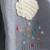 Patrón de nubes Rebecas de Las Muchachas Niños Recién Llegados Abrigo Ropa de Las Muchachas Niños Suéter de Lana 2016 Del Otoño del O-cuello Largo de la manga cuello
