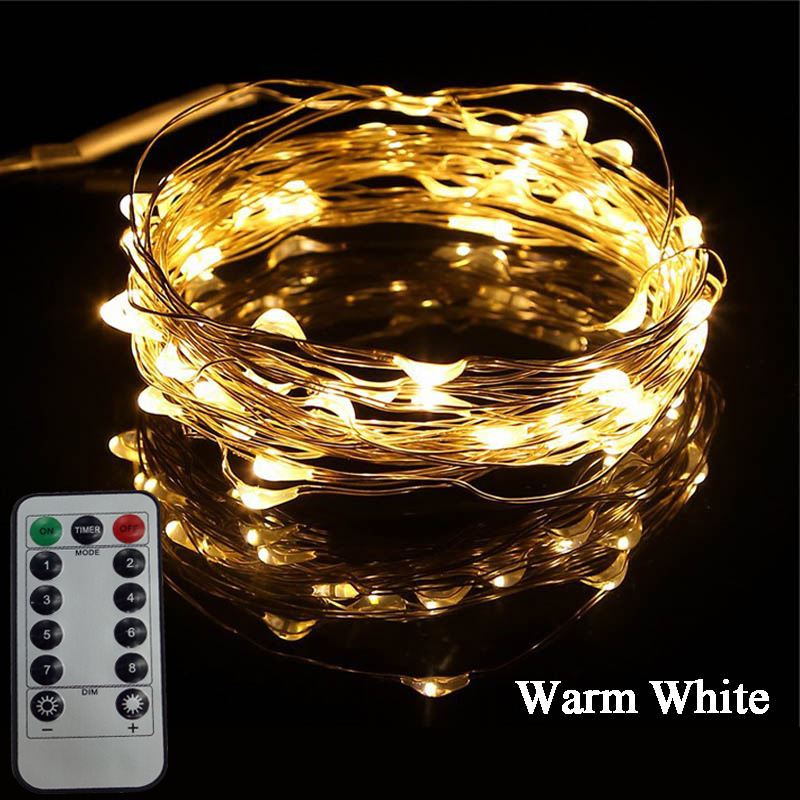 100 LED 10M LED String Light Remote Control Christmas/Wedding/Party/Festival Decoration Lights Waterproof Holiday LED Lighting