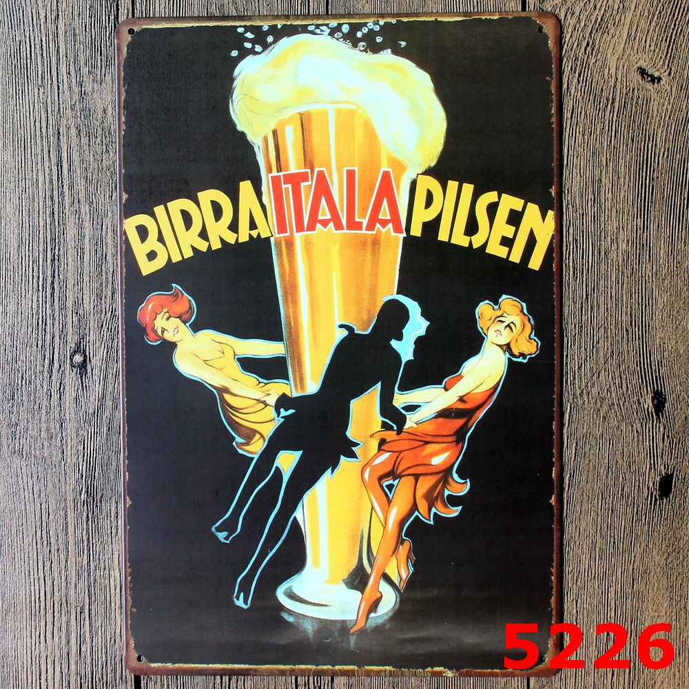 Bar Beer Decorative Vintage Metal Sign Metal tin sign Bar Wall art ...