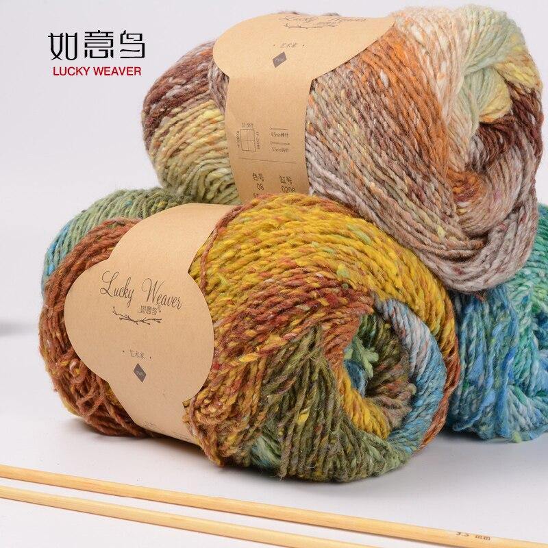100gball Seide Baumwolle Farbe Färben Von Wolle In Kinder Grob Hand