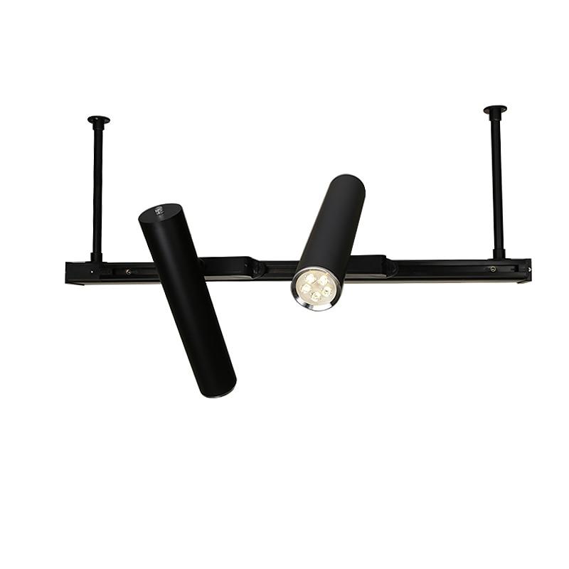 Modern Track Light Long Tube LED Track Lamp Office Bar Restaurant Showroom Shop Display Down Spot Light Pendant Lights Hanglamp