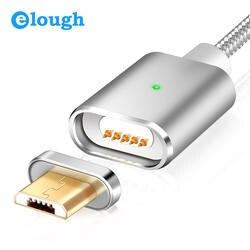 Elough E03 Магнитная Зарядное устройство Micro USB кабель для Xiaomi huawei Android мобильный телефон для быстрой зарядки магнит Microusb кабель для передачи