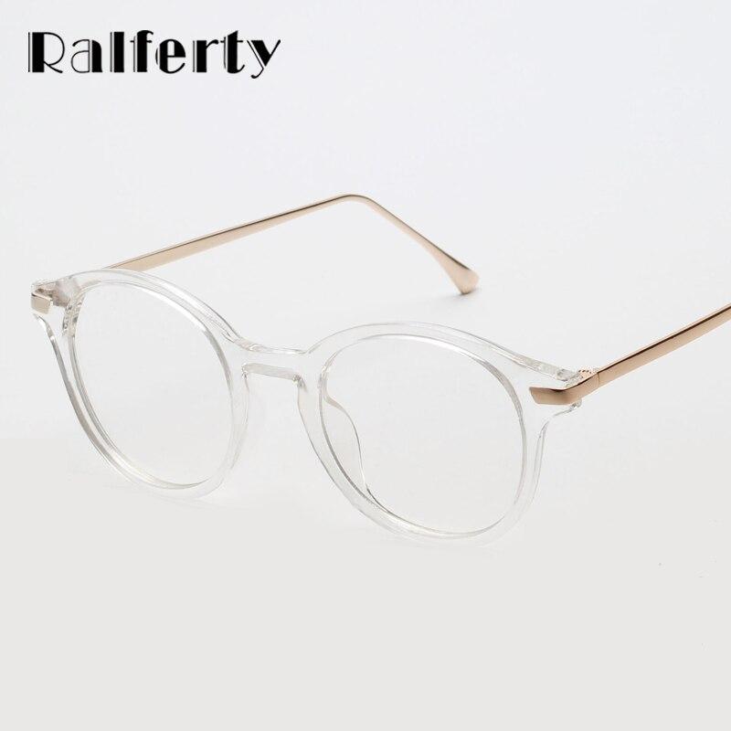Ralferty Vintage Rotonda Sunglass Donne Trasparente Occhiali UV400 Candy Nero occhiali da Sole Femminili Occhiali Shades Chiaro Eyewear Oculos 2601