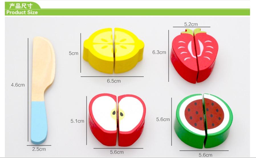 Home toys wooden puzzle baby cut fruit puzzle vegetables cognition toys