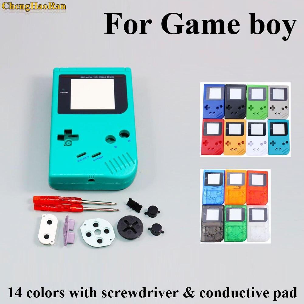 1 Set Voor Game Boy Classic Game Case Plastic Cover Voor Nintend Gb Console Behuizing Voor Gb Case Schroevendraaiers Geleidende D Pad Bespaar Zonder Kosten