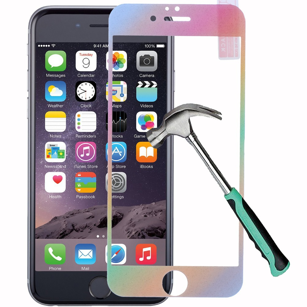 Rainbow Gradient Color Front Back Premium Tempered Glass Full Body Screen Protector Case For IPhone 6 Plus 5 5S On Aliexpress