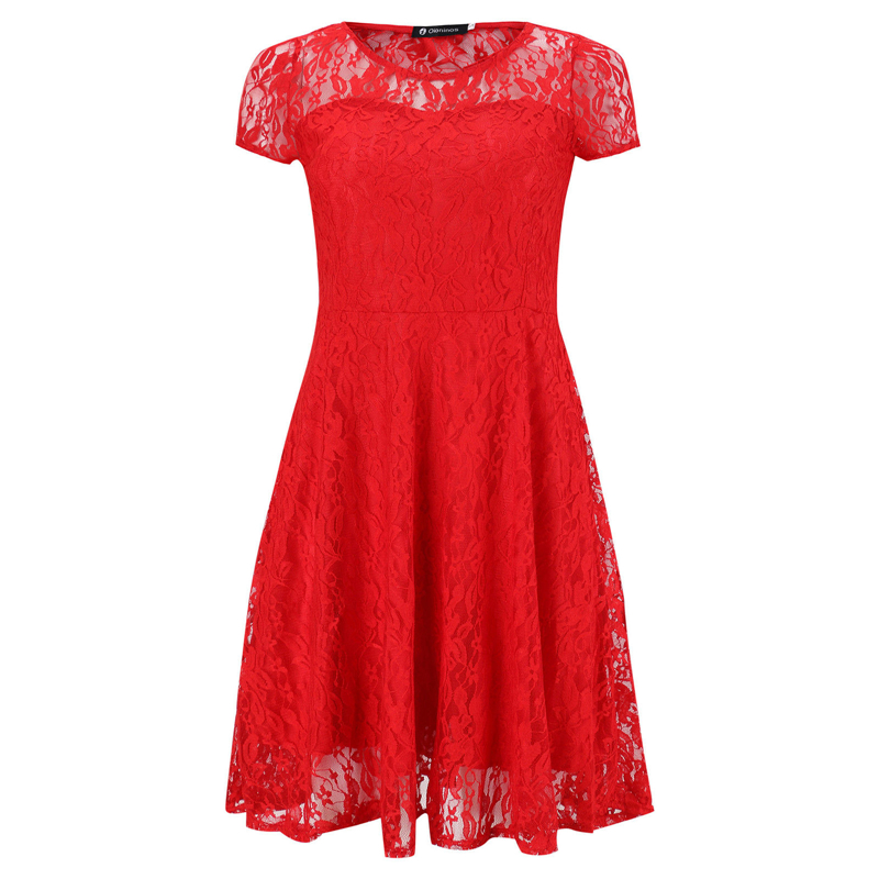 6XL Plus Size <font><b>Dress</b></font> Fashion Women Elegant Sweet Hallow Out Lace <font><b>Dress</b></font> <font><b>Sexy</b></font> Party Princess Slim Summer <font><b>Dresses</b></font> Vestidos <font><b>Red</b></font> Blue image
