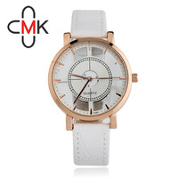 CMK Luxury Brand Fashion Classic Watch Men Winner Womens Skeleton Watch Girls Leather Strap Ladies Dress