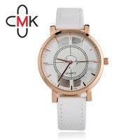 CMK Luxury Brand Fashion Classic Watch Men Winner Womens Skeleton Watch Girls Leather Strap Ladies Dress