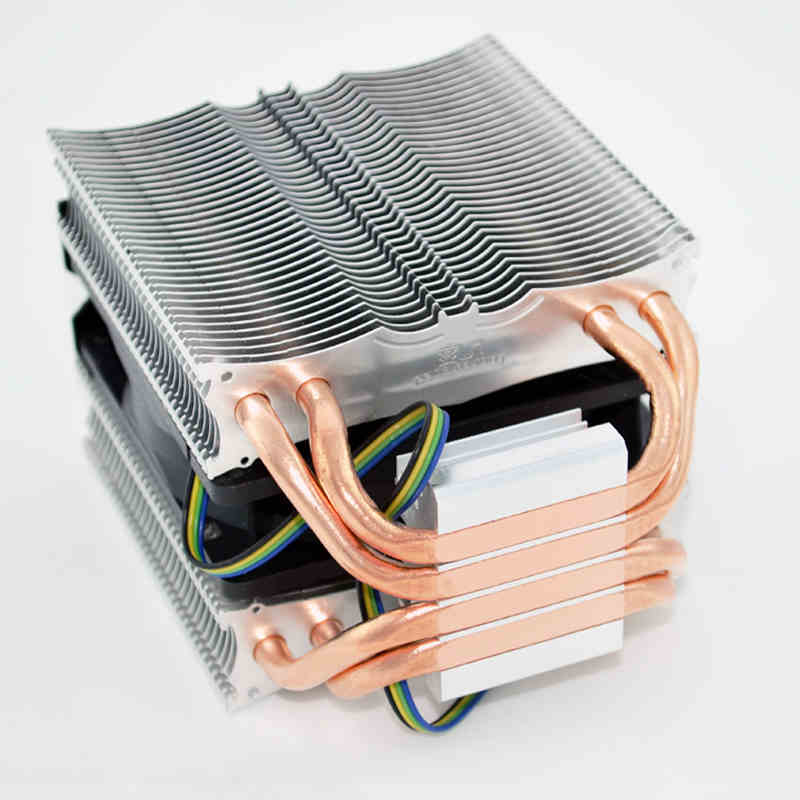 For Intel AMD platform 1155/1150/AM3 Desktops Computer CPU 4 copper heat pipes Cooler heat sink fin fan quiet Radiator 4pin 75 29 3 15 2mm pure copper radiator copper cooling fins copper fin can be diy longer heat sink radiactor fin coliing fin