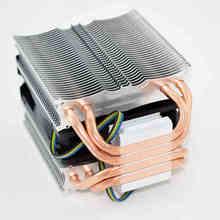 Для Intel AMD платформы 1155/1150/i5/i3/X8/X6 Настольных Компьютерных ПРОЦЕССОРЫ 4 меди тепловыми трубками Кулер радиатор плавник вентилятор тихий