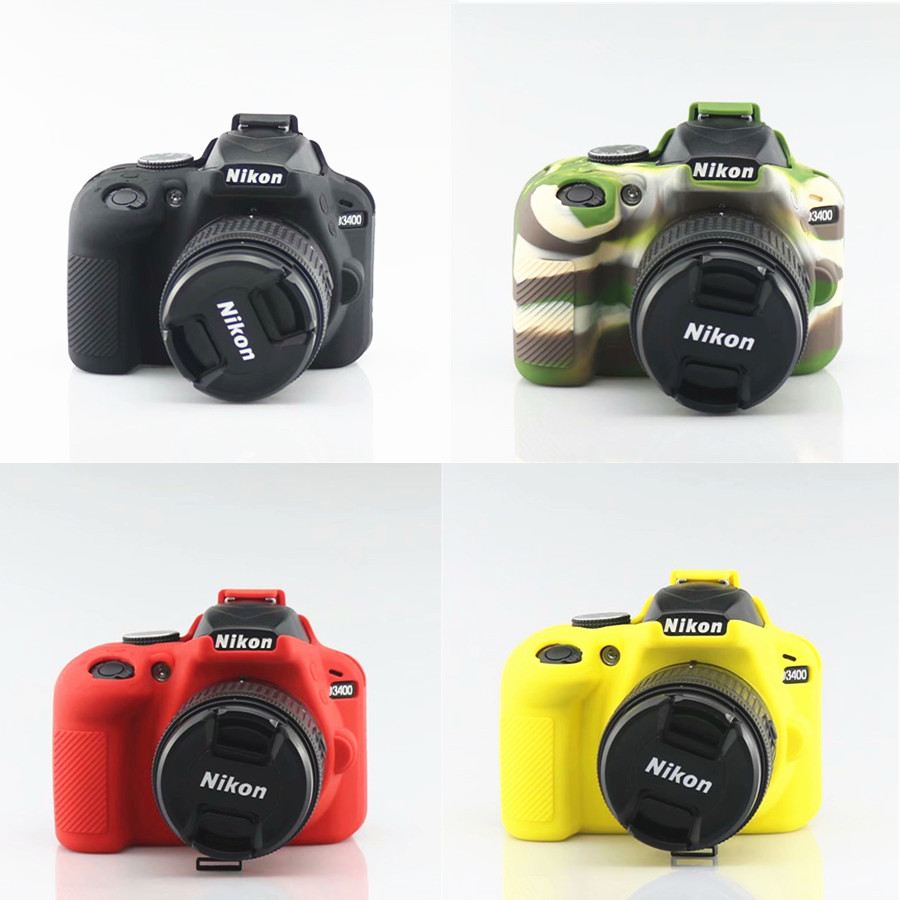 New Soft Silicone Camera Skin For <font><b>Nikon</b></font> <font><b>D3400</b></font> Silicon <font><b>Case</b></font> Protective Dslr Camera Skins image