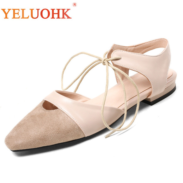 33-43 Women Flats Big Size Women Summer Shoes New Slingbacks Flat Shoes Women