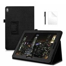Чехол из искусственной кожи Flio для Lenovo Idea Tab A10-70 A7600 A7600h A7600f чехол-подставка для A7600 A10-80h 10,1 дюймов чехол для планшета + пленка + ручка