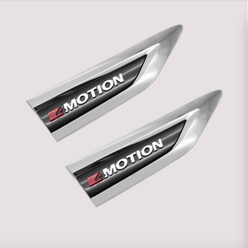 Side Wing Fender Emblem Badge Cover Trim 4Motion For Tiguan 2016 2017 L