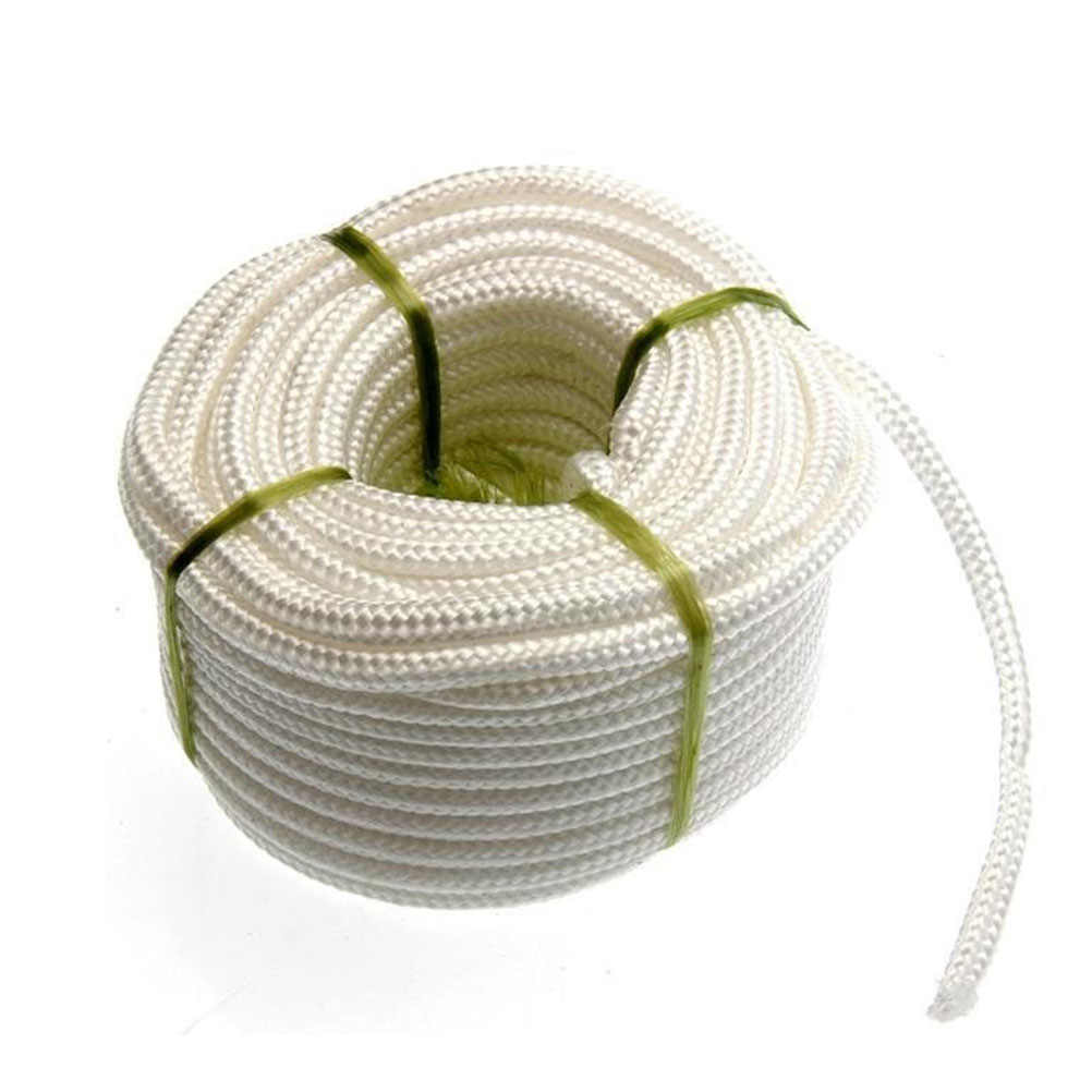 4mm*17m Polypropylene Rope Braided Rope with Polyester Core for Outdoor Tent Clothesline Use (White)