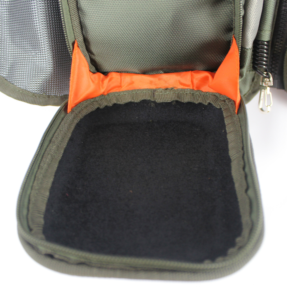 pesca malha colete mochila peixe acessório saco