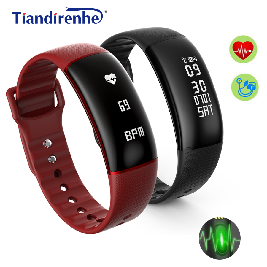 S69 Blood Pressure Smart Bracelet Watch Heart Rate Monitor Waterproof Fitness Tracker Smartband Wristband for iPhone xiaomi