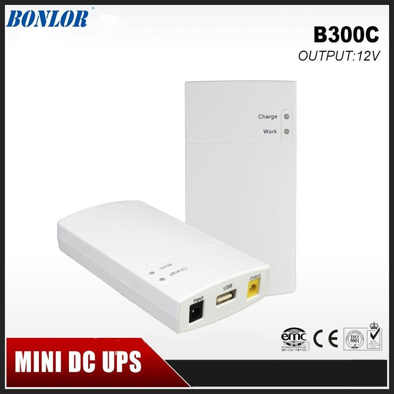 Mini Portable UPS 12V2_5A DC alimentation en ligne avec batterie au Lithium 7800mAh Max7 heures de temps de sauvegarde pour les équipements CCTV et Modem