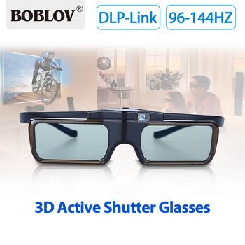 BOBLOV MX30 dlp-link 96 HZ-144 HZ akumulator 3D aktywne okulary migawkowe obiektyw LCD do projektora 3D dlp-link Drop Shipping tanie i dobre opinie shutter Smartfony Wciągające Lornetka Brak Okulary Tylko