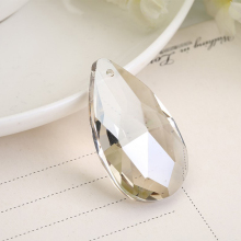 22mm 20pcs/ 100pcs Clear Teardrop Hanging Crystal Beads Crystal Chandelier Pendants Parts for Decoration
