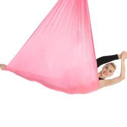 Neue 7*2,8 m Aerial Yoga Hängematte Anti-Gravity Yoga Schaukel Yoga Gürtel für Körper Gebäude Pilates Workout fitness Anzug für Decke 4,2 m