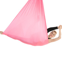 New 7*2.8m Aerial Yoga Hammock Anti-Gravity Yoga Swing Yoga Belt for Body Building Pilates Workout Fitness Suit for Ceiling 4.2m