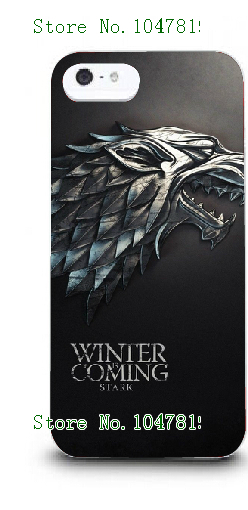 Retail 1pcs 2014 new arrival game of thrones popular game design Luxury White Hard Case Cover For Iphone 5 5S Free Shipping