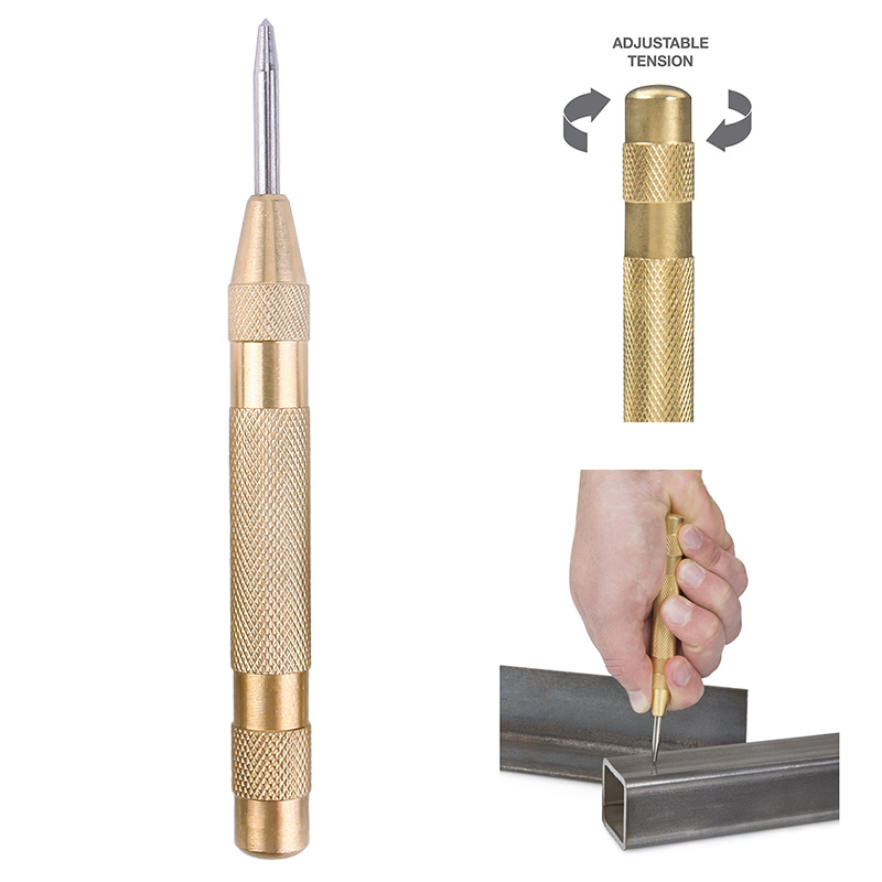 5 Inch Automatic Center Pin Punch Spring Loaded Marking Starting Holes Tool #87867 marking tools