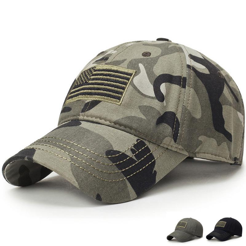 2019 nouveaux hommes USA drapeau Camouflage casquette de Baseball armée broderie coton tactique papa chapeau mâle été Sports casquettes loisirs Golf chapeaux
