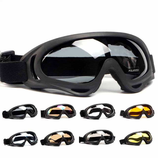 Polarized Motorcycle Goggles UV400 Windproof Bicycle Bike Glasses Cycling Ski Goggles Men Women MTB Downhill Riding Glasses