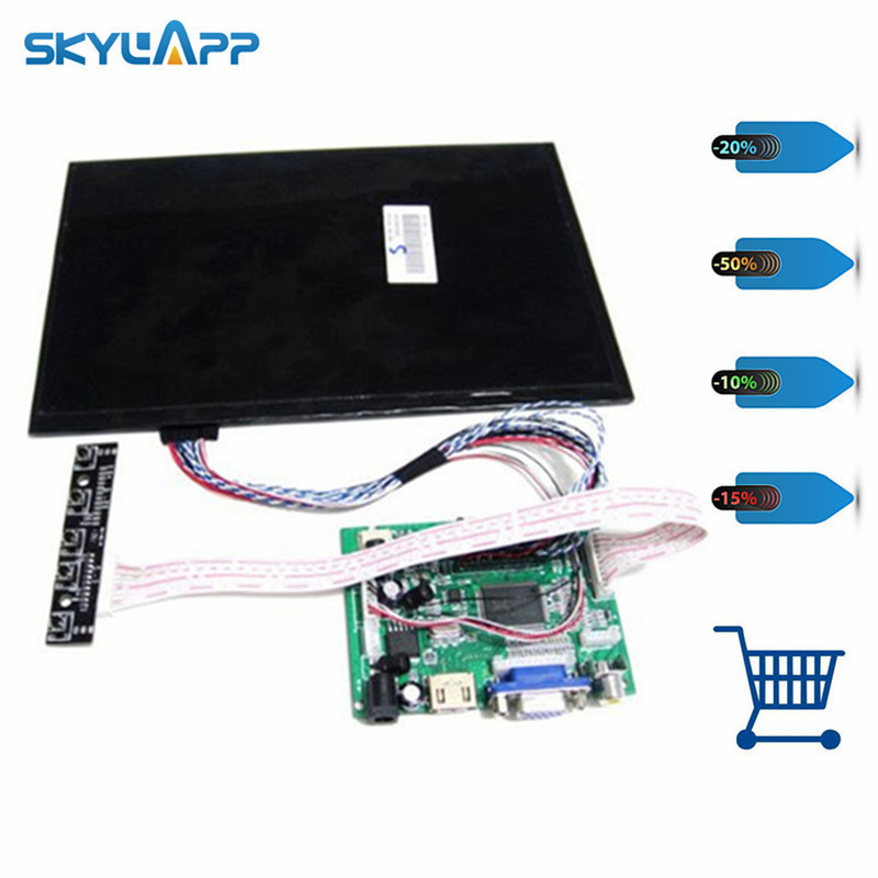 skylarpu 10.1 inch 1280*800 LCD Screen TFT Monitor Remote Driver Control Board 2AV HDMI VGA for Rasbperry Pi (without touch)