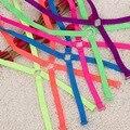 Moda Fluorescente de Ombro Para Trás Cruz Correias Candy-cor Cute Girl Alças de Sutiã Estilo Verão das Mulheres Coloridas Tiras 11900