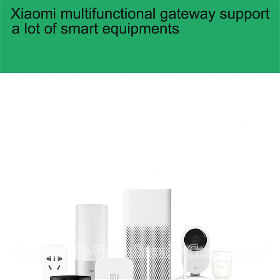 Original Xiaomi Multifunctional Gateway Work with Door Window Temp Humidity Human Body Sensor Wireless Switch Socket Controller-2