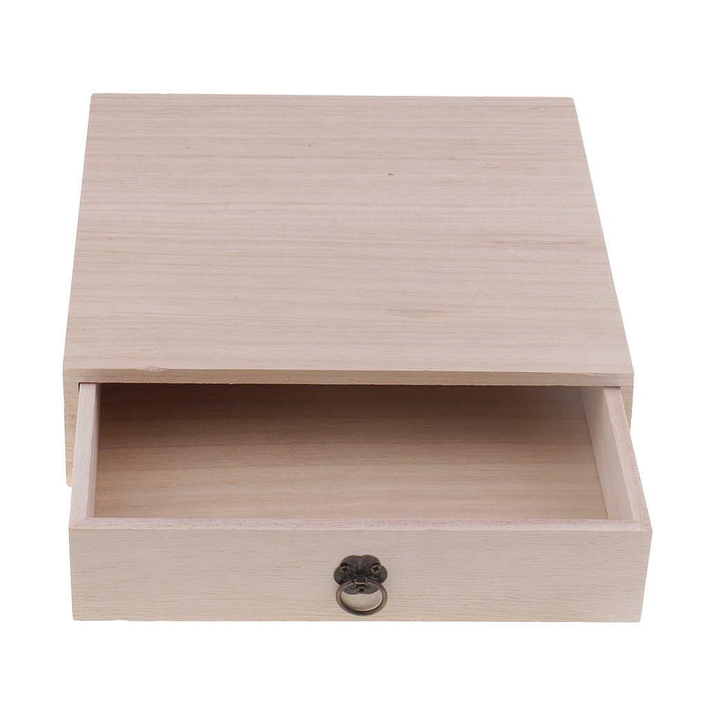 Holz Lagerung Schublade Home Storage Box Schmuck Lagerung Organizer Büro Schreibtisch Schreibwaren Fall Tee Storage Box Organizer Container
