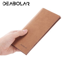 New retro fashion men's quality pu long section ultra-thin wallet leisure large capacity Zipper Multi-card Holder Cash Organizer(China)