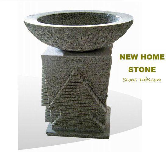 modern bathroom sink natural basalt column pedestal sink vanity set highly smooth polished interior chiseled