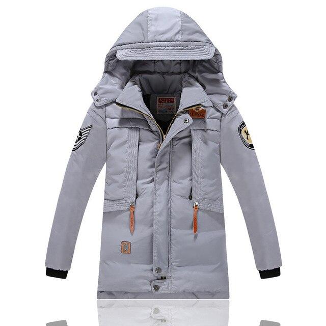 Christmas Children Winter Jackets Snowsuit Duck Down Kids Windbreaker Parka Big Boys Warm Thick Coat Zip Teenager Baby Outwear