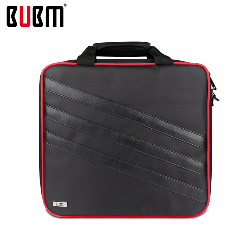 BUBM bag for PS4 PRO console receiving game storage organizor shoulder bag handbag black bubm for htc vive vr bag case travel shoulder case backpack waterproof video game console controller portable storage bag