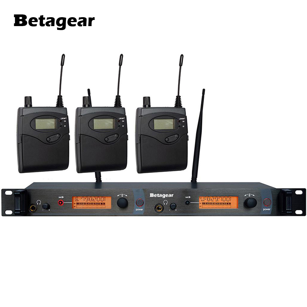 Betagear SR2050 IEM <font><b>In</b></font>-ohr Monitor System Bühne Überwachung System 3 Empfänger Audio <font><b>Profissional</b></font> Sound System Pro Studio Monitor image