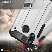 For Huawei Nova 3i Case Heavy Duty Armor Bumper Anti-knock Phone Cover P Smart Plus Funda