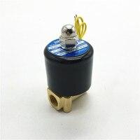 AC110V 2W025-08 G1/4 ''Mini Elektrozawór Wody Oleju Powietrza Cewki Miedzi i Ciała