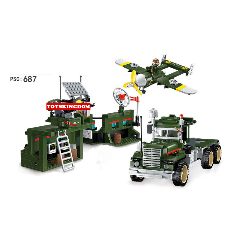 Hot ww2 Military mobile operation base building block Truck fighter bricks army airforce figures toys for children gifts