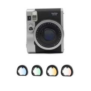 Image 2 - 4pcs/Set Gradient Color Fujifilm Instax Mini 90 Instant Camera Colorful Filters Magic Close Up Lens Camera