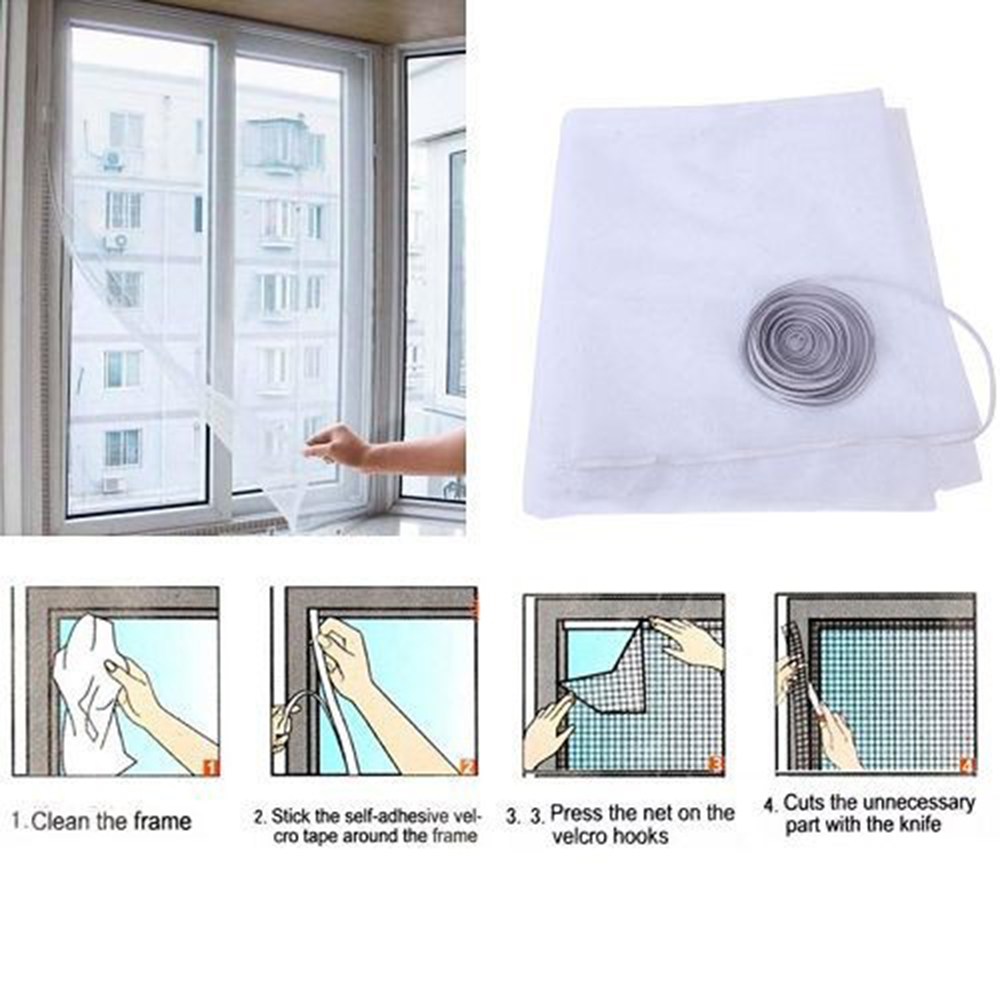 Insect Fly Bug Mosquito Door Window Net Netting Mesh Screen Sticky