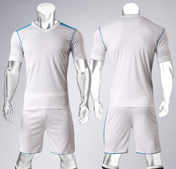 Blank style 2017-2018 Soccer jersey & shorts Football shirt training Suit Soccer competition training uniforms Football jerseys