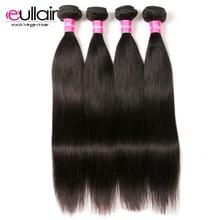 eullair hair Straight 4 Pcs Peruvian Hair Weave Bundles 8-30 Inch Human Remy Hair Bundles