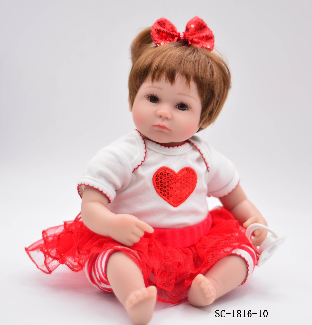 Good Baby Christmas Gifts: Forrsdor 40cm Cotton Body Lifelike Newborn Baby Girl With